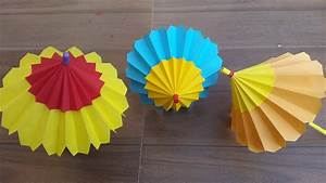 How to make a paper umbrella that open and closes- Step by