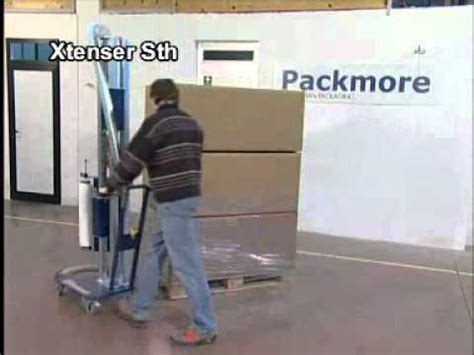 manual pallet wrapping machine youtube