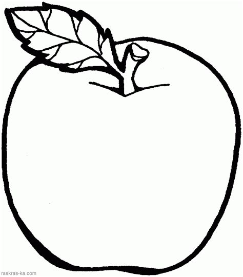 Apple Colouring Pages For Kids