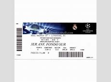 Real Madrid vs Liverpool 201415 Champions League ticket