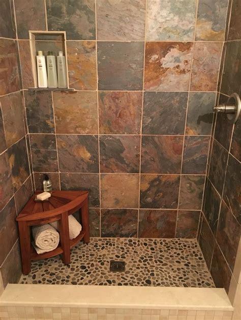 slate shower ideas  pinterest
