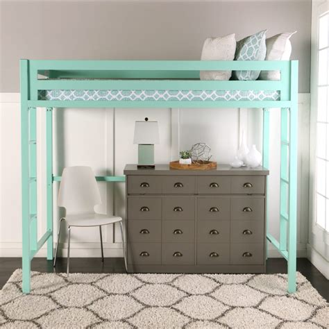 bentley twin loft bed mint  walker edison