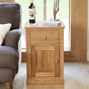 Mobel Oak Single Door And Drawer Lamp Table Was 21500