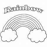 Rainbow Coloring Adults Printable Rainbows Sheets Colors Pot Leprechaun Fairy Templates Cartoon sketch template
