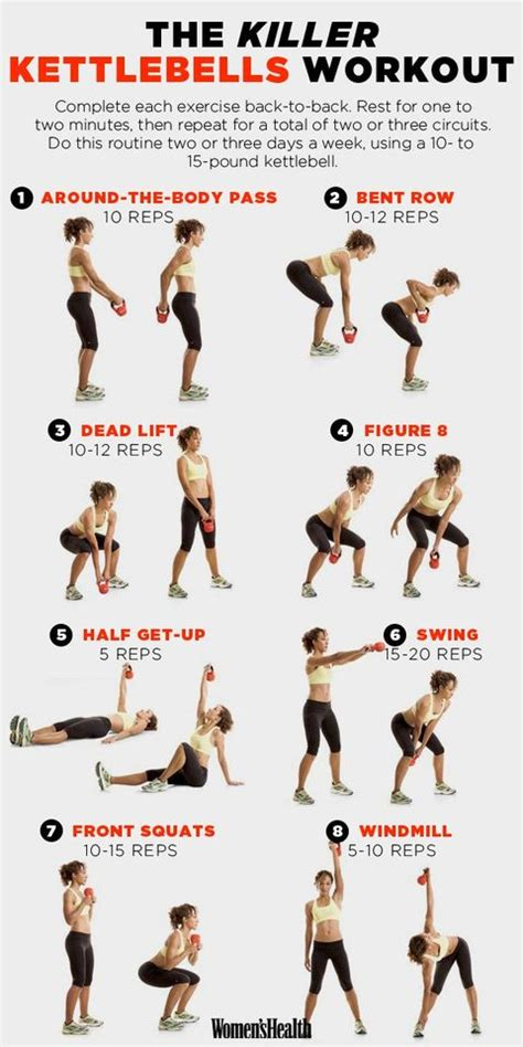 kettlebell exercises body workout kettlebells moves killer exercise sculpt entire bischoff beth