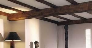beau idee deco plafond poutre 2 d233corez un plafond With idee deco plafond poutre