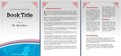 booklet template office templates