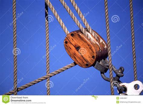 sailing ship ropes  pulley stock image image