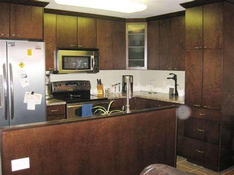 espresso slab maple cabinets   Modern   Kitchen