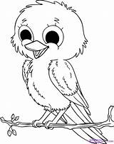 Coloring Pages Animals Baby Bird sketch template