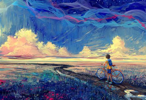 wallpaper  px artwork bicycle fantasy art