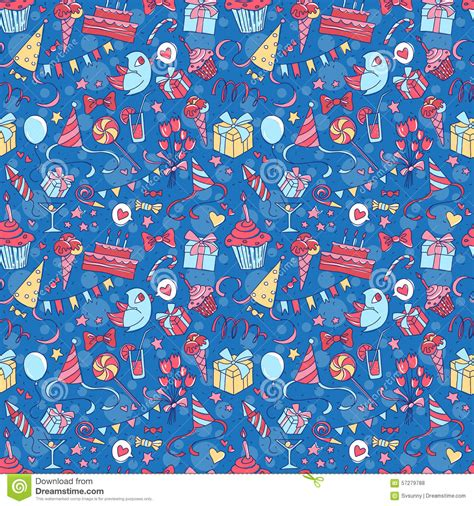 happy birthday seamless colored pattern
