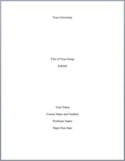 mla format cover page mlaformatorg