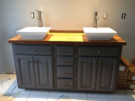 Diy Bathroom Vanity, Used The Barn Wood Hemlock Pieces