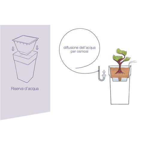 vaso a riserva d acqua vaso outdoor 80 cm bianco squadrato con riserva d acqua