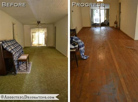 hardwood flooring vs carpet goodbye green carpet hello original hardwood floors