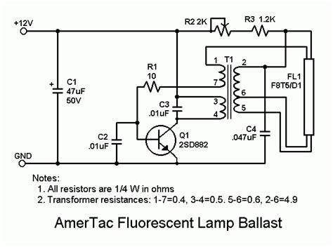 optics time constant for typical fluorescent lights