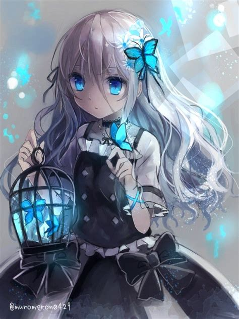 Pin By Alison Nelson On Art Anime Anime Butterfly Blue