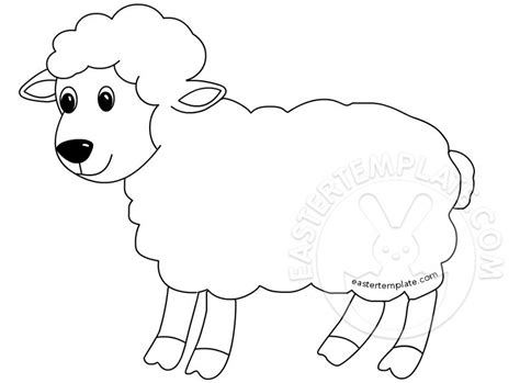 sheep template easter template with free printables easter templates