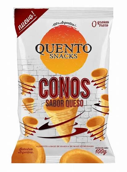 Conos Queso Snacks Quento Sabor 100g Mani