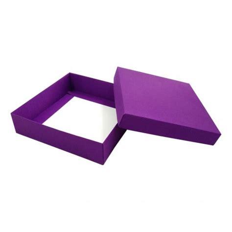 Violet Silk Mailing Box For Wedding Invitation