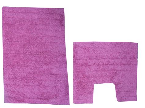 piece cotton bath mat pedestal bathroom rug set pink ebay