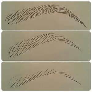 Microblading Drawing Eyebrows
