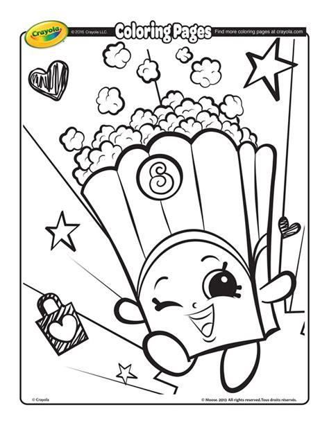 Shopkins Poppy Corn Coloring Page crayola com