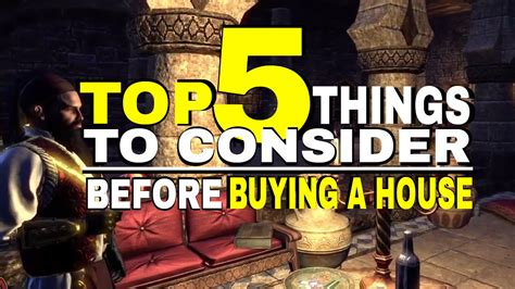 Eso  5 Things To Consider Before Buying A House