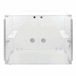 Vitrine A Poser : vitrine a poser a 2 portes 48 x 38 5 x 38 cm verre acrylique ~ Melissatoandfro.com Idées de Décoration
