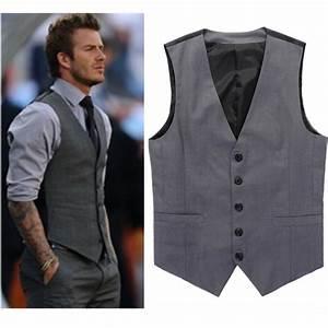 aliexpresscom buy grey slim fit dress vests for men With mens dress vests wedding