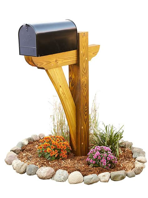 md  timber frame mail box post woodworking plan