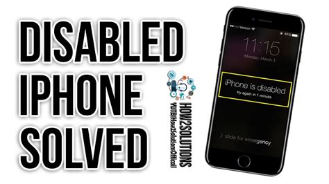 how to unlock a disabled iphone 6 iphone disabled how to unlock reset restore iphone 5 6 6s How T