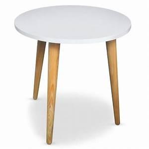 Table Basse Scandinave Ronde : table basse ronde scandinave blanc pas cher scandinave deco ~ Teatrodelosmanantiales.com Idées de Décoration