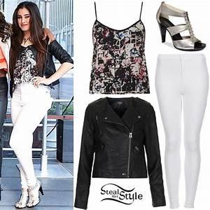 Lauren Jauregui: Floral Top, White Jeans | Steal Her Style
