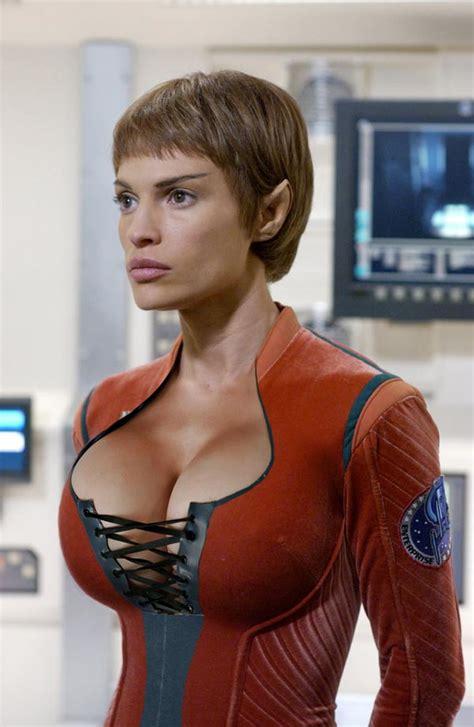 Women Of Star Trek Enhanced Big Boobs Celebrities