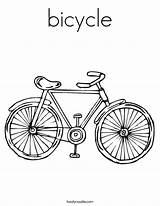 Bicycle Coloring Bike Built California Usa sketch template