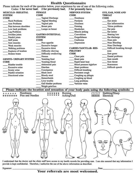 massage therapy consultation form template