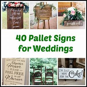 40 Pallet Signs for Weddings