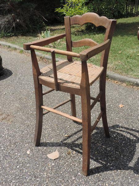 ancienne chaise haute en bois chaise ancienne paillee clasf
