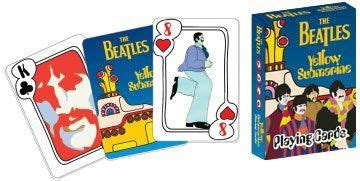 beatles yellow submarine playing cards  images