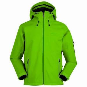 Mens 3L Fleece Backed Jacket Neon Green