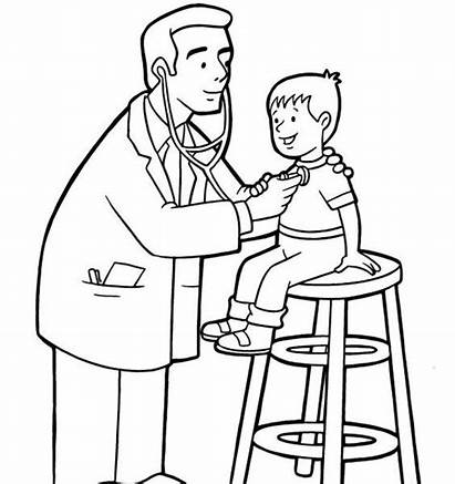 Nurse Drawing Doctor Coloring Pages Sheets Clipartmag