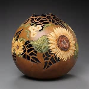amazing gourd carving art by marilyn sunderland design swan