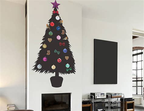 diy christmas tree wall sticker contemporary wall stickers