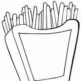 Fries Coloring Junk Favorite French Pages Template Plate sketch template