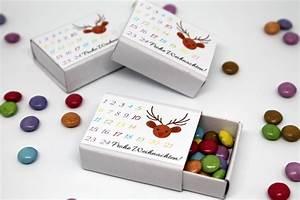 Geschenk Selber Basteln : tolles geschenk diy adventskalender in einer streichholzschachtel mit gratis printable ~ Watch28wear.com Haus und Dekorationen