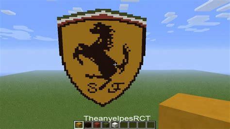 pixel art en minecraft logo de ferrari hd youtube