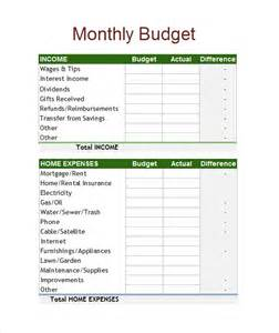 Monthly Budget Excel Spreadsheet Sle Budget Spreadsheet 5 Documents In Pdf Excel