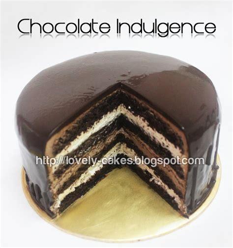 lovely cakes  chocolate indulgence cake
